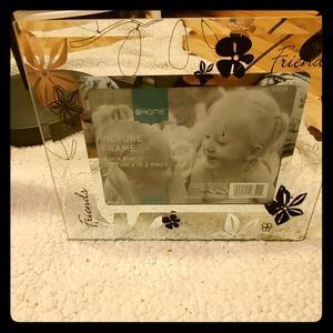 At home friends 4x6 glass picture frame